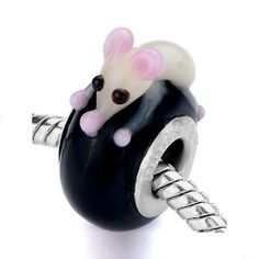 Pugster Black Little Yellow Mouse Murano Glass Bead Fit Pandora charm Biagi and Charmilia Bracelet Pugster. $12.49. Color: Pink,yellow,black. Metal: Murano glass. Size (mm): 9.32*16.07*18.71. Weight (gram): 3.3