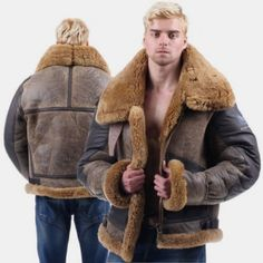 MK988 Mens Cargo Faux Fur Lined Stitching Multi Pockets Oversized Winter Down Coat Jacket Overcoat