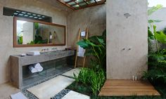 outdoor shower . Villa Baraka . via Flickr