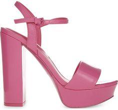Love these! Aldo Kandie patent heeled pink sandals #shoe fashion