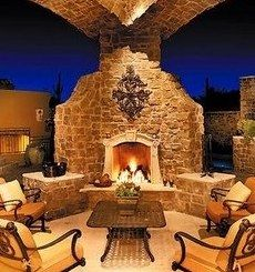 1000 images about fire places fire pits hot hot hot on for Spanish style outdoor fireplace