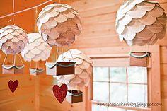 So cute!  Using chinese lateens to make hot air balloons
