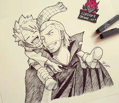 Natsu and Gildarts/ insta-drawing