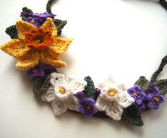 Crochet Spring Flowers Necklace | Flickr - Photo Sharing!