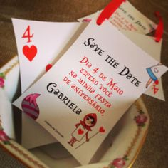 alice in wonderland save the date cards | share