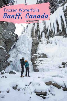 Hiking isn't just a summer activity. Strap on your crampons and explore the canyon depths of Johnston Canyon in Canada's Banff National Park. Here you'll find frozen waterfalls and incredible natural ice structures. #Banff #BanffCanada #BanffNationalPark #JohnstonCanyon #BanffCanadaWinter #JohnstonCanyonWinter #BanffThingsToDo #CanadaWinter #CanadaTravel #FrozenWaterfall Best Family Vacations, Family Travel, Winter Vacations, Travel Advice, Travel Guides, Travel Tips, Canadian Travel, Canadian Rockies, Canada Destinations