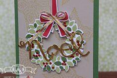 #Weihnachtskarte mit Stempelset #WillkommenWeihnacht . Farben: #Gartengruen, #Chili, #Gold, #Saharasand