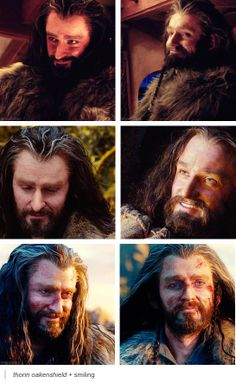 One of my favorites is the top right, in which his is smiling at Kili. Shows that he really loves his nephews...