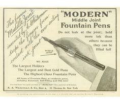 A. A. Waterman Modern #2 Middle Joint MHR, ca. 1905 | Penarte - Fine Vintage Pens