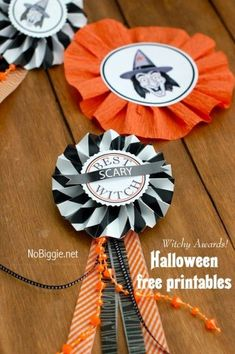 best scary witch medal free printable