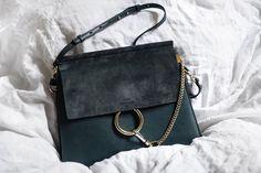 Chloé Faye Bag Silver Blue
