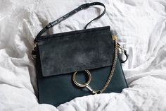 Chloé Faye Bag Silver Blue
