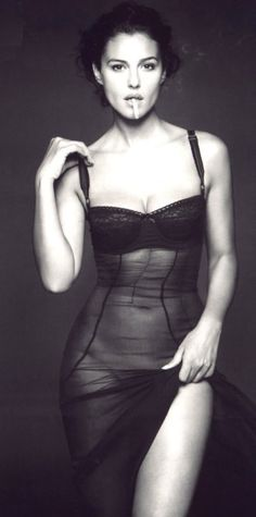 Nothing but sensuality — lucyloves-lingerie: Monica Bellucci See more at...