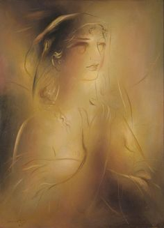 """""""Daughter"""" oil painting by the Greek painter Yorgos Gounaropoulos (G. Art Through The Ages, Night At The Museum, Classic Artwork, Great Works Of Art, Greek Art, Frame It, Artist Painting, Madonna, Greece"""