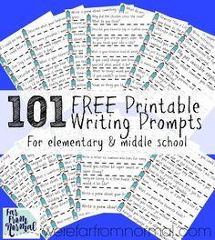 Make A Writing Jar (Plus 101 Prompts to Fill it!) 101 Free printable writing prompts for writing jar Middle School Writing Prompts, 2nd Grade Writing, Journal Writing Prompts, Creative Writing Prompts, Writing Lessons, Kids Writing, Teaching Writing, Writing Activities, Writing Ideas