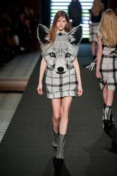 Feeling foxy at Jean-Charles de Castelbajac Fall 2013 #runway #fashionweek
