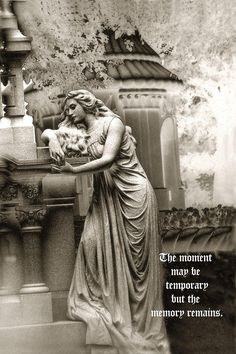 gravestones | Surreal Romantic Female Cemetery Mourner At Grave Photograph - Surreal ...