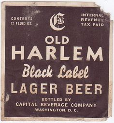 Old Harlem Lager by rockcreek, via Flickr