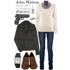John Watson - BBC's Sherlock | Womens, created by chelsealauren10.polyvore.com - site has several other characters too