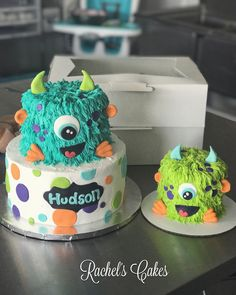 Monster Birthday Cakes, Boys First Birthday Party Ideas, Little Monster Birthday, Monster 1st Birthdays, Twins 1st Birthdays, Baby Boy First Birthday, Monster Birthday Parties, First Birthday Cakes, Monster Party