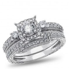 My beautiful engagement ring  West End, 14K White Gold Diamond Bridal Set, 1 1/4 ctw. - by Samuels Jewelers