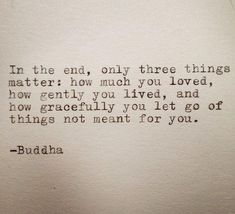 Buddha - 3 things