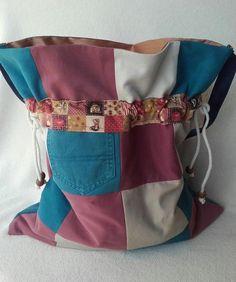 Patchwork Soft Denim Shoulder Bag
