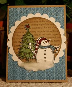 No Fun Like Snow Fun by CathyRose - Cards and Paper Crafts at Splitcoaststampers...Beautiful Christmas card