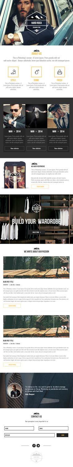 Business Casual Email Template by Claudiu Fagadar on Creative Market