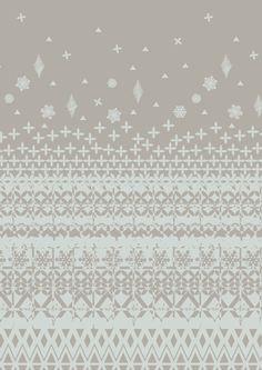 printed fairisle pattern