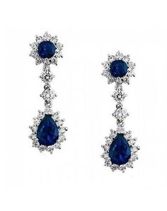 USABride Sapphire Blue Royal Earrings Wedding Jewelry - The Knot