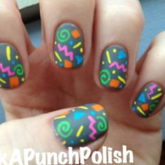 80s Nails, oh my granddaughters would love this!