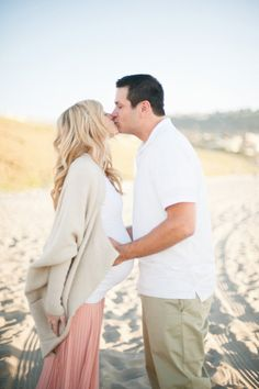 Great maternity beach photo shoot idea! Christine Choi Photography