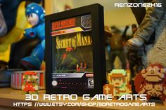 Secret of Mana RPG 3D Retro Art Artwork Arcade Poster Nintendo SNES Sega Genesis Hyperspin atari 2600 Vintage Playstation 4 XBOX One
