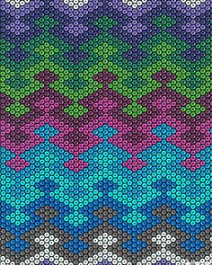 Beadwork Blanket chevron Teal