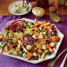 Make-Ahead Thanksgiving: Roasted Vegetable Salad with Apple Cider Vinaigrette