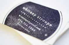 nicey nice---rubber stamp rubber stamp business card idea