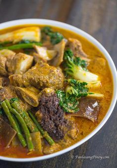 Beef Short Rib Kare Kare – Panlasang Pinoy – Famous Last Words Easy Filipino Recipes, Filipino Dishes, Rib Recipes, Asian Recipes, Cooking Recipes, Vegetarian Recipes, Beef Short Ribs, Beef Ribs, Pilipino Food Recipe