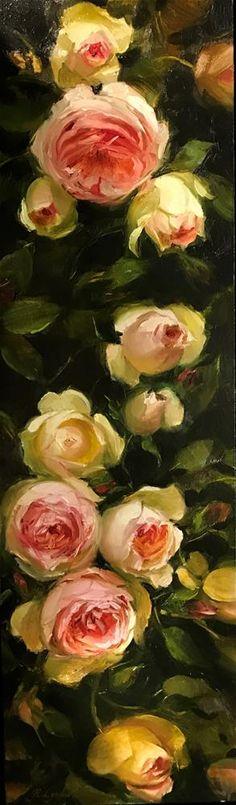 « roses d'été » d'art originale de Regina Lyubovnaya