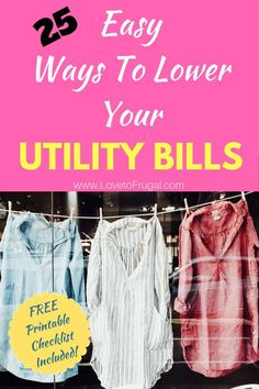 How To Save Money On Utilities, Painlessly! - Love To Frugal How to save money on utilities! If you're looking to find some extra money in your budget, Ways To Save Money, Money Tips, Money Saving Tips, Money Plan, Money Hacks, Household Expenses, Savings Plan, Managing Your Money, Budgeting Money