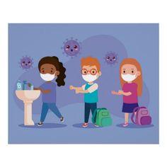 School Wash Your Hands Poster Painting For Kids, Drawing For Kids, Hand Washing Poster, Desenho Pop Art, School Chalkboard, School Cartoon, Kids Vector, Hand Art, Stories For Kids