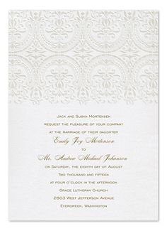 2.36  Dignified Baroque - Wedding Invitations by Invitation Consultants. (Item # CC-7T3061-87 )