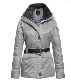 Top Quality Women's Down Fashion Belted Winter Coat 2 Colors S-XL