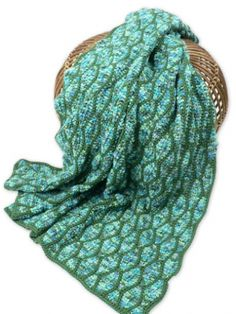 """This is a free Kim Guzman pattern from Caron available at Yarnspirations website. Name is """"Streamwave Throw""""  It is a Crochet Pattern"""