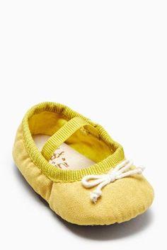 494ee1151bda Buy Yellow Ballet Pram Shoes (Younger Girls) from the Next UK online shop  Pigesko