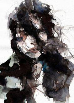 Saatchi Art: Stranger Series Painting by Ko byung jun Abstract Portrait, Watercolor Portraits, Portrait Art, Watercolor Illustration, Watercolor Paintings, Watercolours, Art Sketches, Art Drawings, Human Art