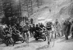 Anquetil and Bahamontes - 1963 Tour de France - Man were they tough back then !