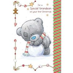 babys 1st christmas card - Google Search Baby's First Christmas Card, Babys 1st Christmas, Tatty Teddy, Teddy Bear, Christmas Pictures, Smurfs, Christmas Ornaments, Toys, Holiday Decor
