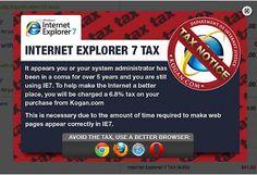 Australian online shop imposes IE7 tax...
