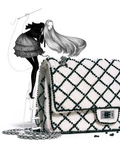 Fashion illustrations by Laura Laine